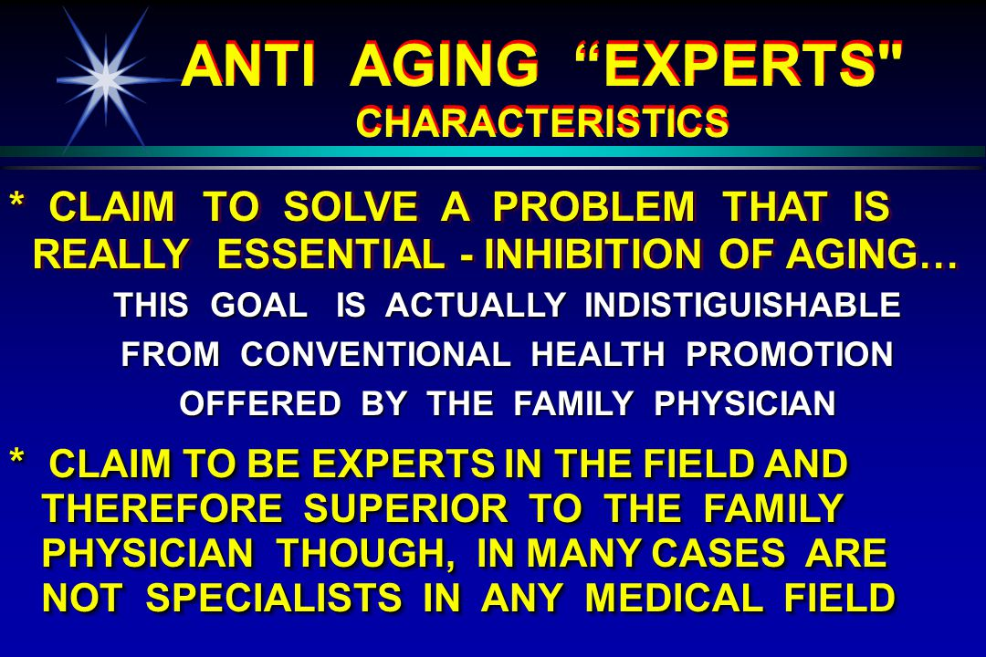 * CLAIM TO SOLVE A PROBLEM THAT IS REALLY ESSENTIAL - INHIBITION OF AGING… REALLY ESSENTIAL - INHIBITION OF AGING… * CLAIM TO SOLVE A PROBLEM THAT IS