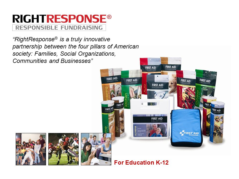 RightResponse ® is a truly innovative partnership between the four pillars of American society: Families, Social Organizations, Communities and Businesses For Education K-12