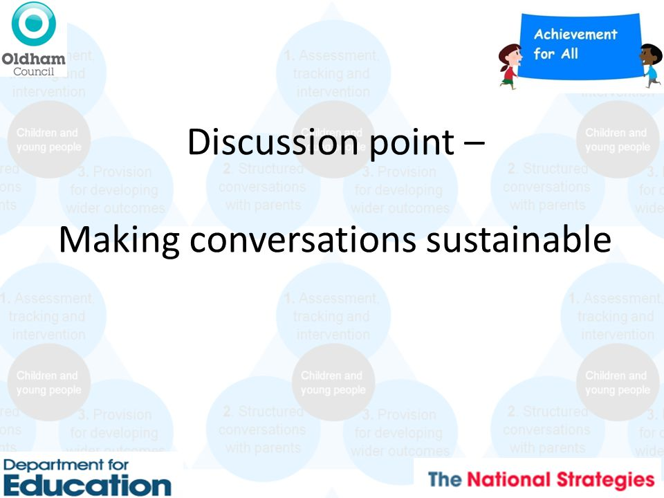 Discussion point – Making conversations sustainable