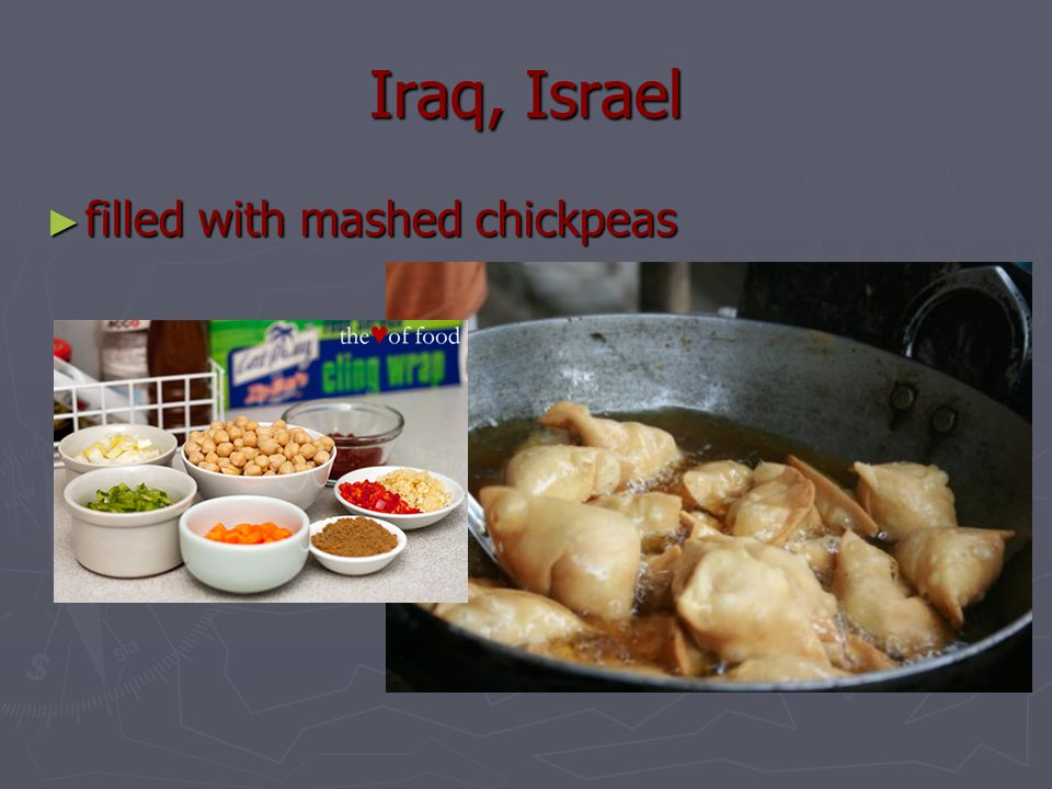 Iraq, Israel ► filled with mashed chickpeas