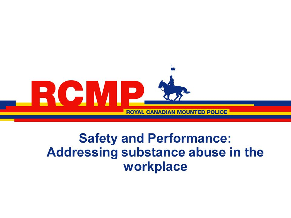 Safety and Performance: Addressing substance abuse in the workplace