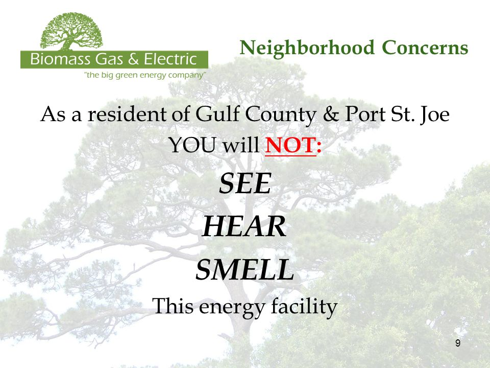 9 Neighborhood Concerns As a resident of Gulf County & Port St.