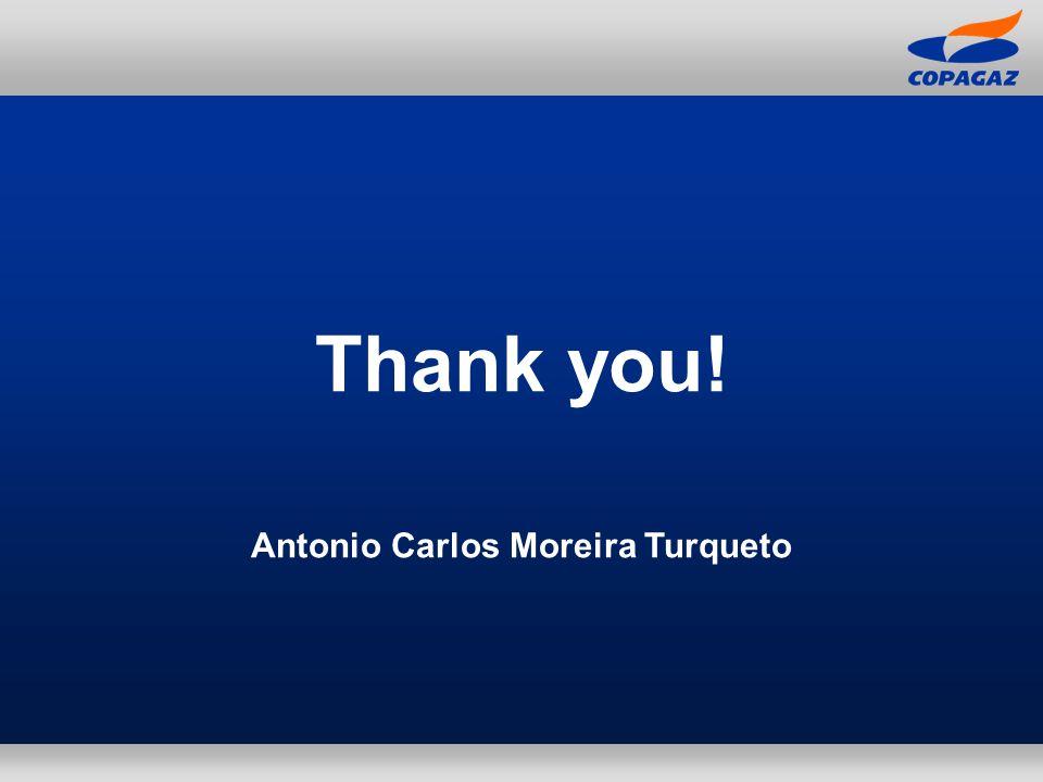 Thank you! Antonio Carlos Moreira Turqueto