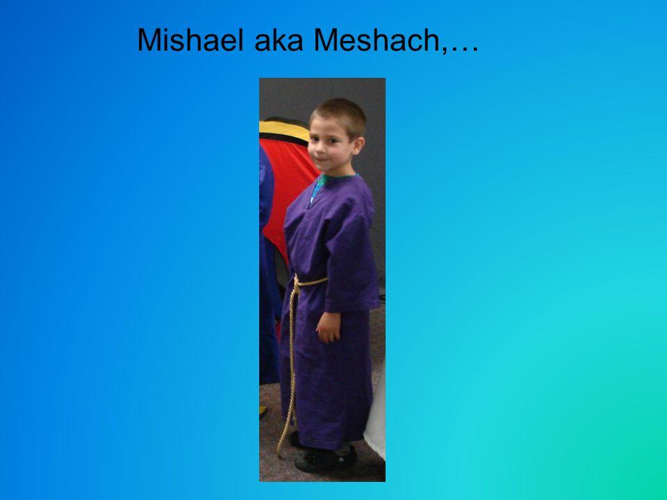 Mishael aka Meshach,…