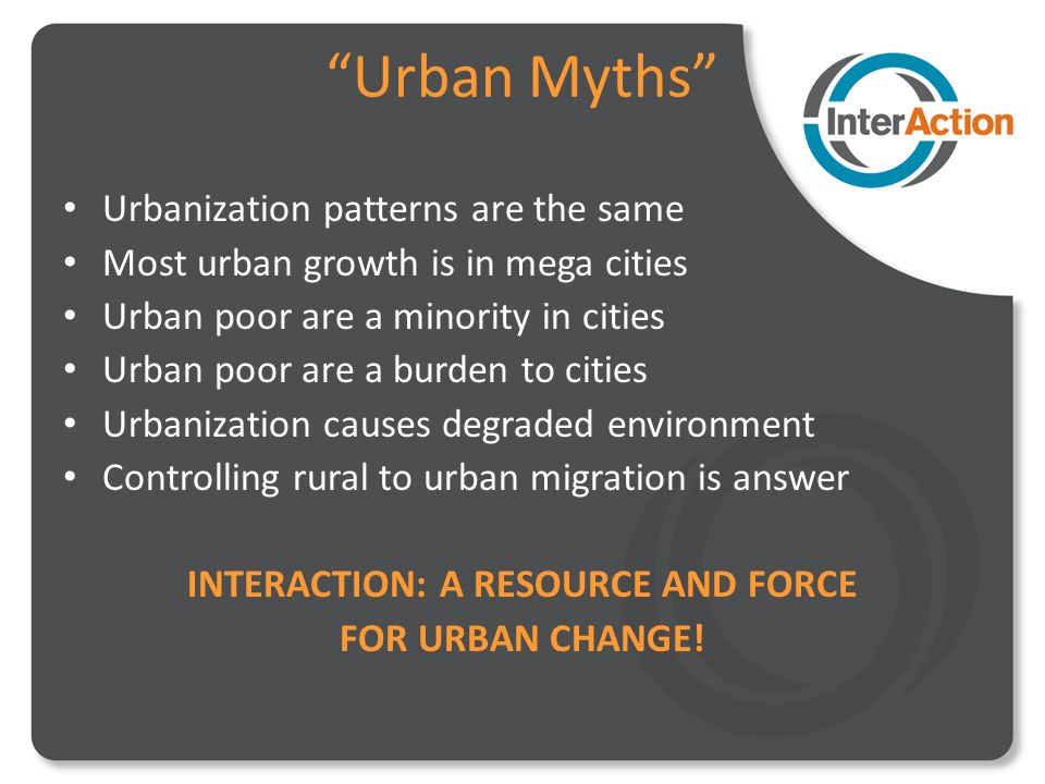 Slum Upgrading Focus Urban Poor are Untapped Asset Increasing urban growth is increasing poverty Inter-related sectors and interventions can be harmonized to have greater impact