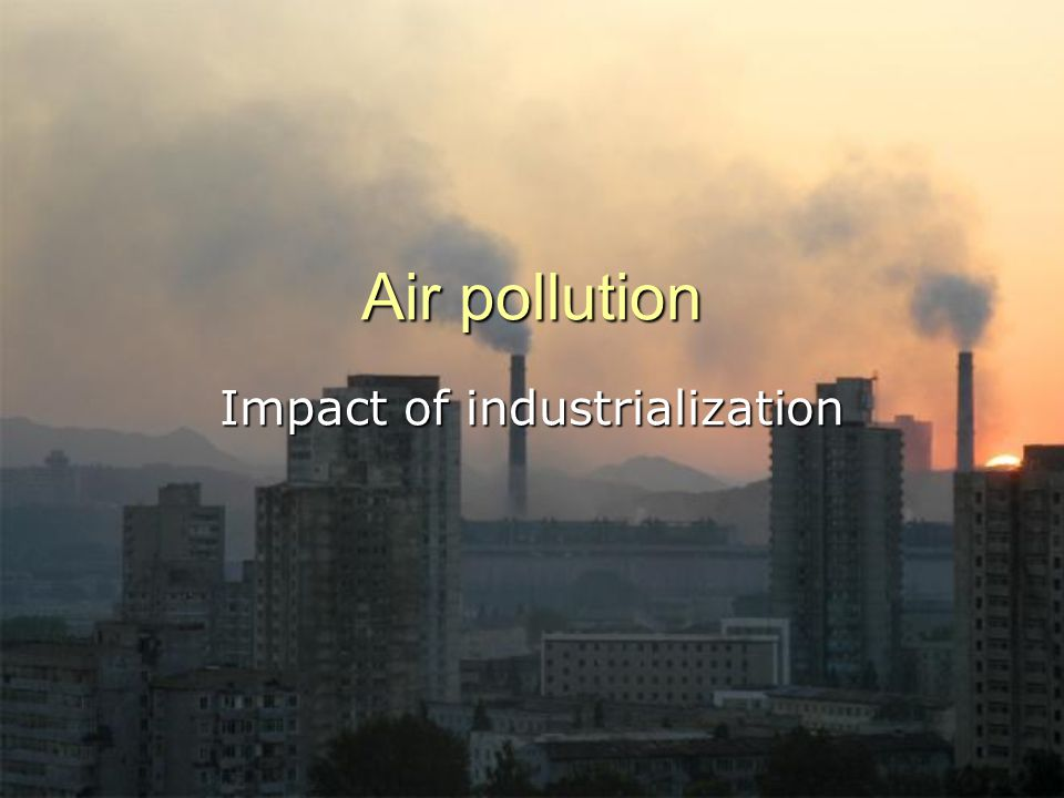 How serious is the air pollution problem.