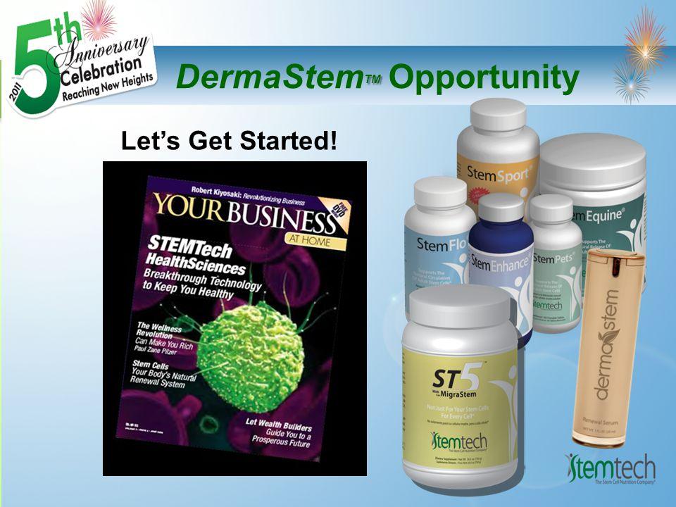 TM DermaStem TM Opportunity Let's Get Started!