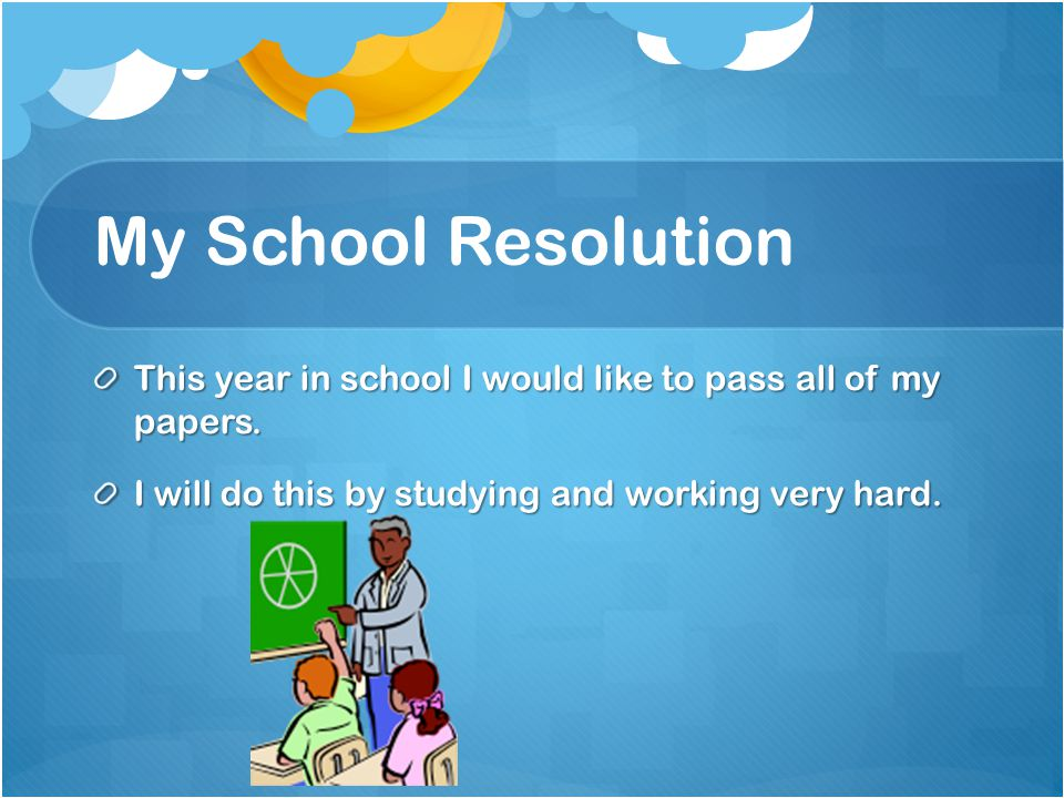My World Resolution This year I would like to help the world by stopping littering.