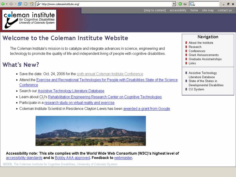 24 Coleman Institute and ASSET Consulting, 2009 Imagine! Charles SmartHome