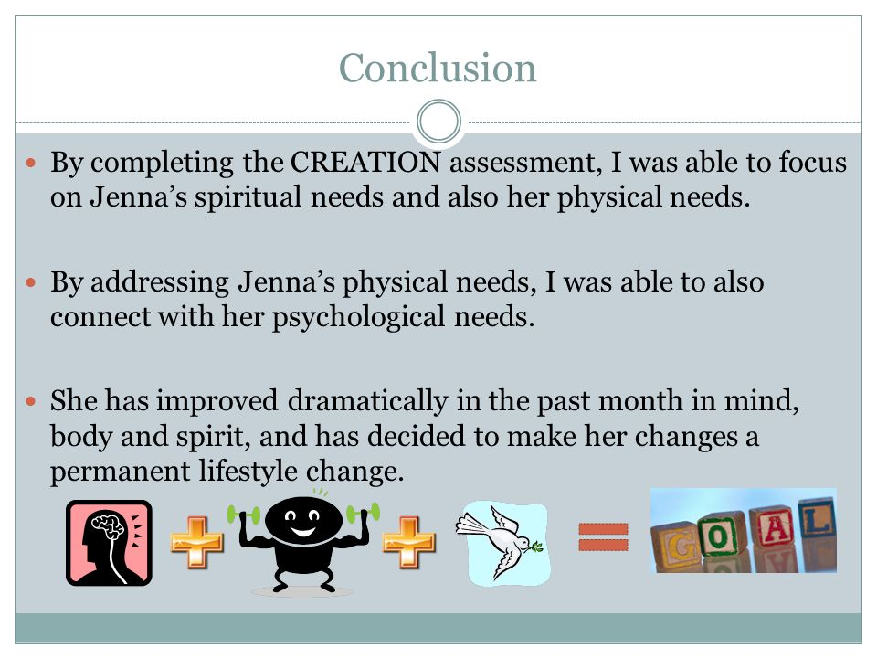 References Cummings, D.& Reed, M. (2008). Creation health discovery: your path to a healthy 100.