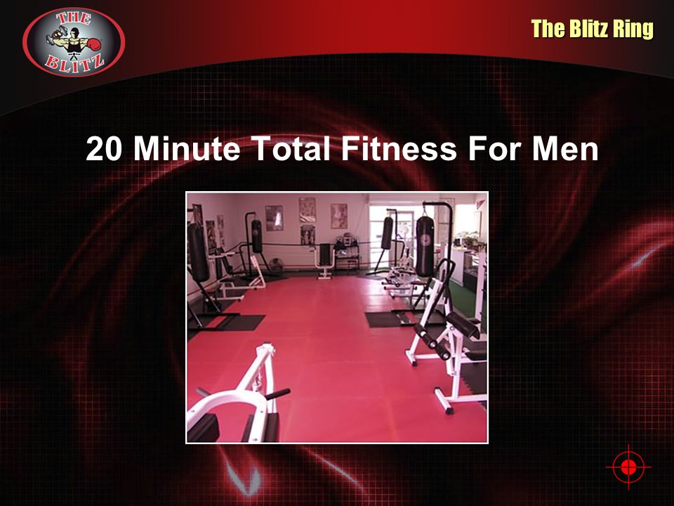 The Concept 20 Minute Total Fitness For Men The Blitz is a cross-training exercise program that combines strength training, boxing and martial arts in