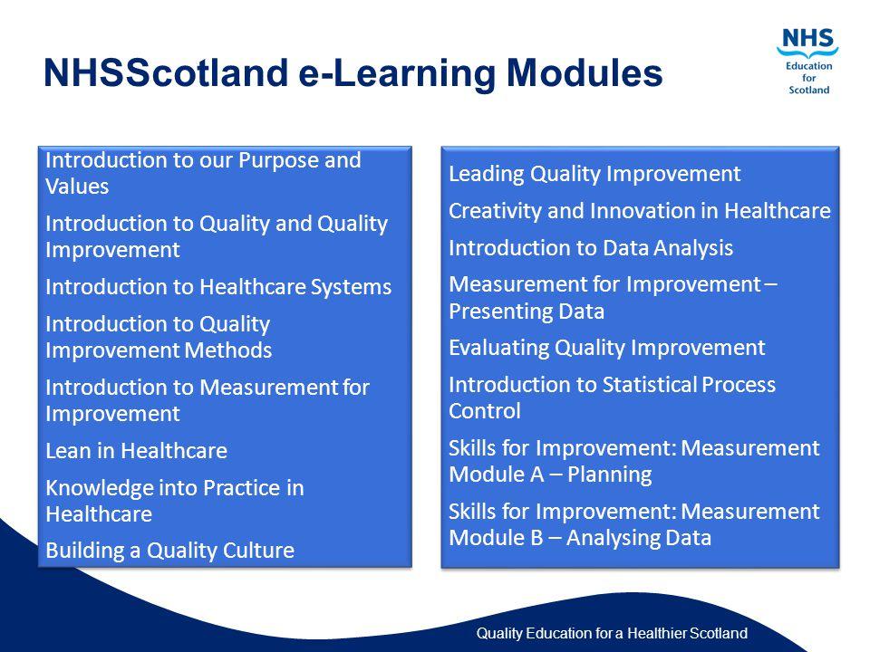 NHSScotland e-Learning Modules