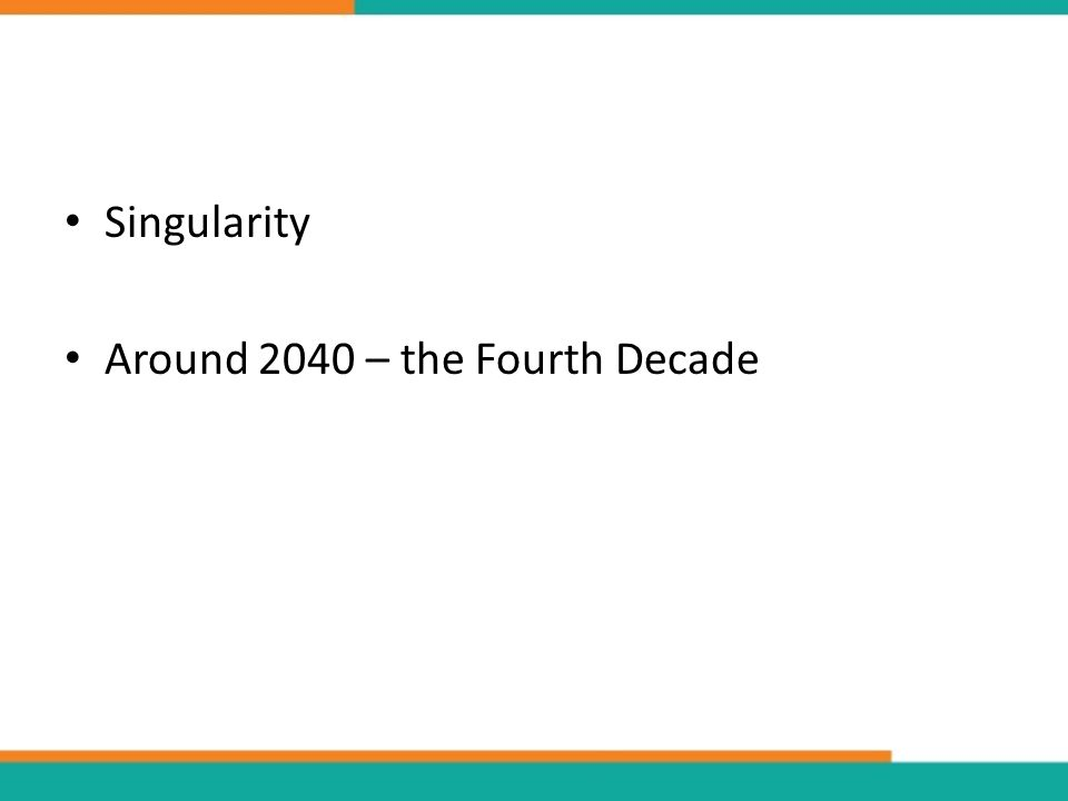 Singularity Around 2040 – the Fourth Decade
