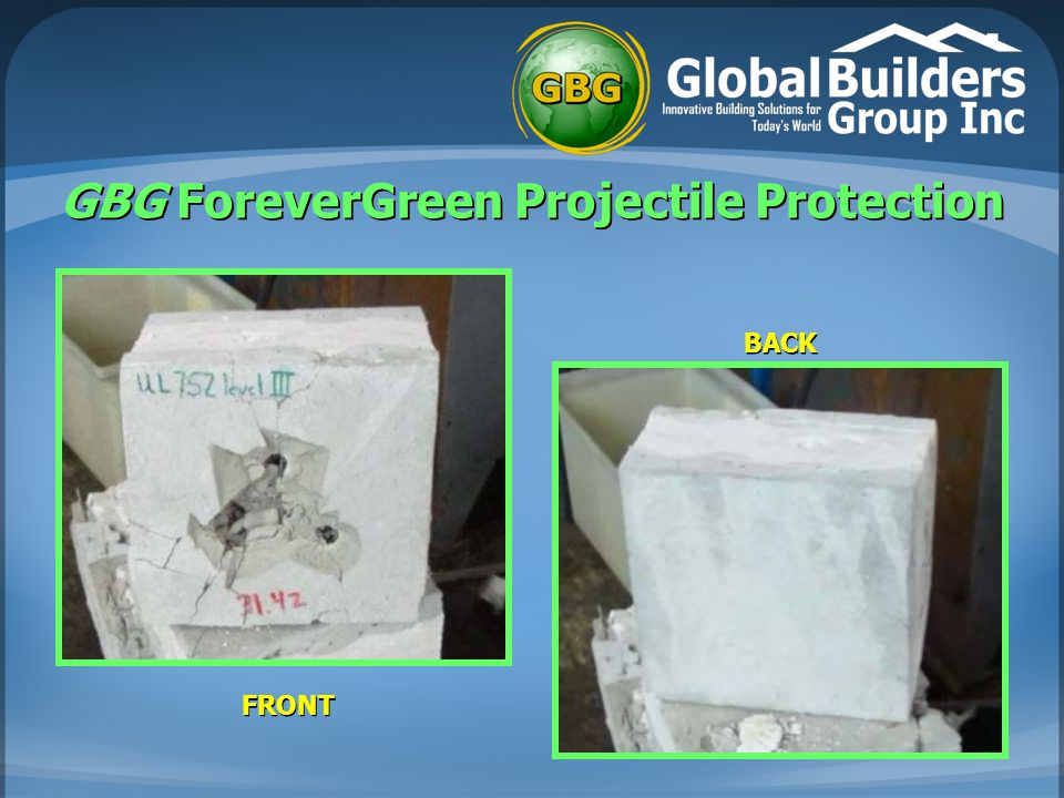 GBG ForeverGreen Projectile Protection FRONT BACK