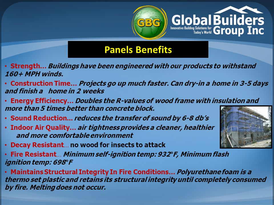 Strength… Buildings have been engineered with our products to withstand 160+ MPH winds.