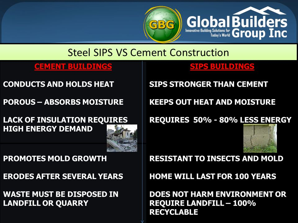 Steel SIPS VS Cement Construction