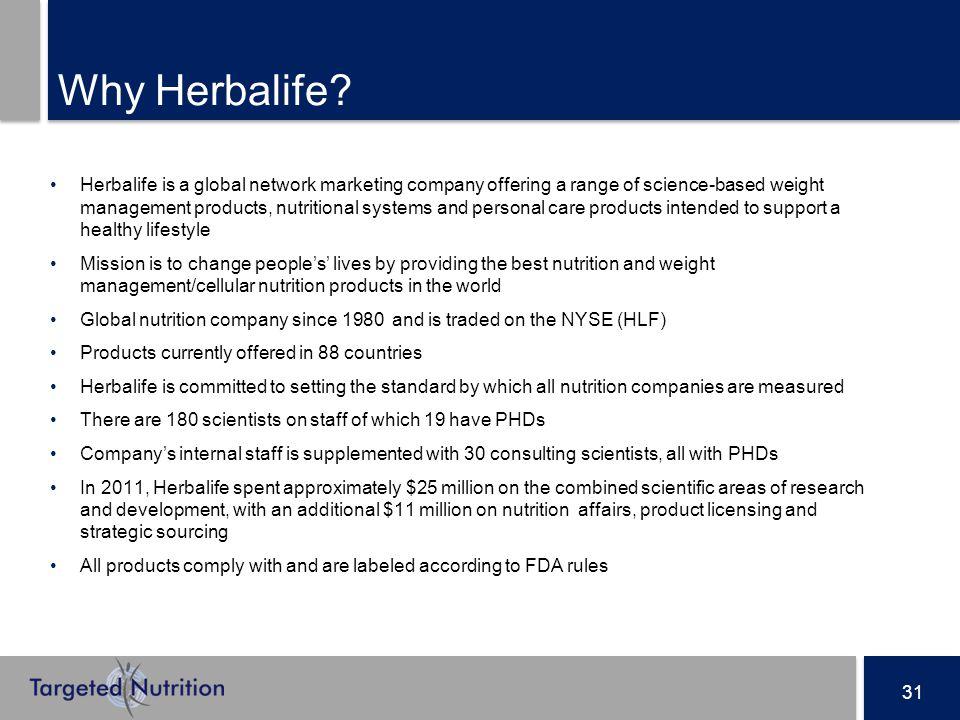 31 Why Herbalife.