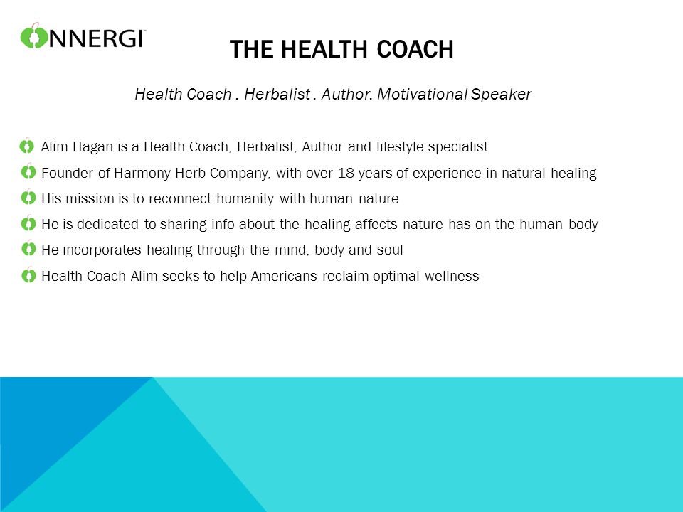 THE HEALTH COACH Health Coach. Herbalist. Author.