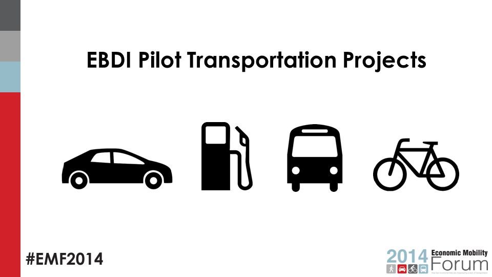 #EMF2014 EBDI Pilot Transportation Projects