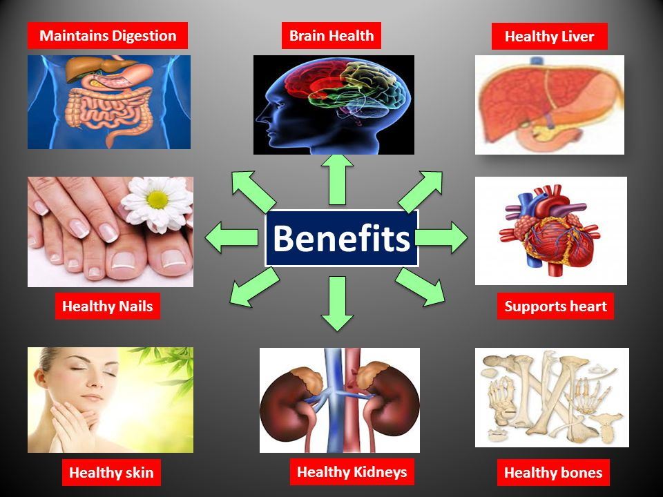 Benefits Brain Health Healthy Liver Healthy Nails Healthy skin Supports heart Healthy bones Healthy Kidneys Maintains Digestion