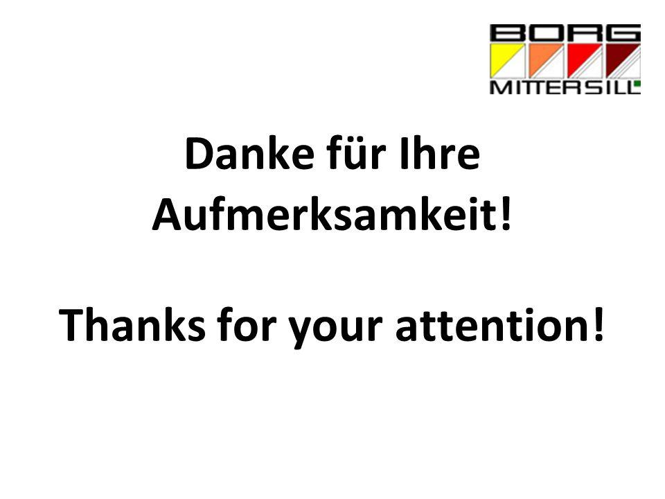 Danke für Ihre Aufmerksamkeit! Thanks for your attention!