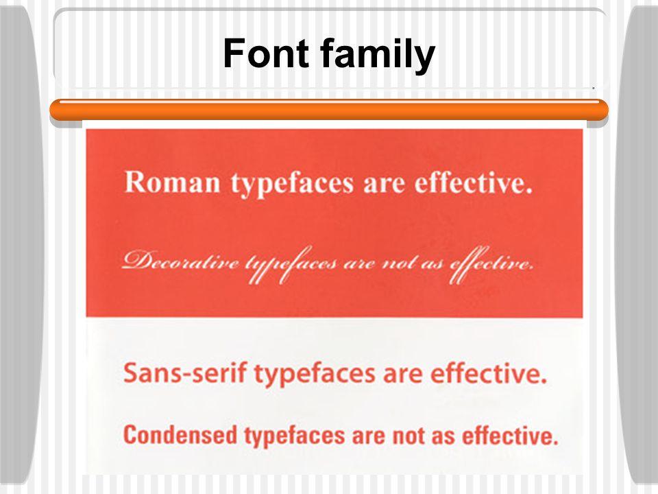 Font family