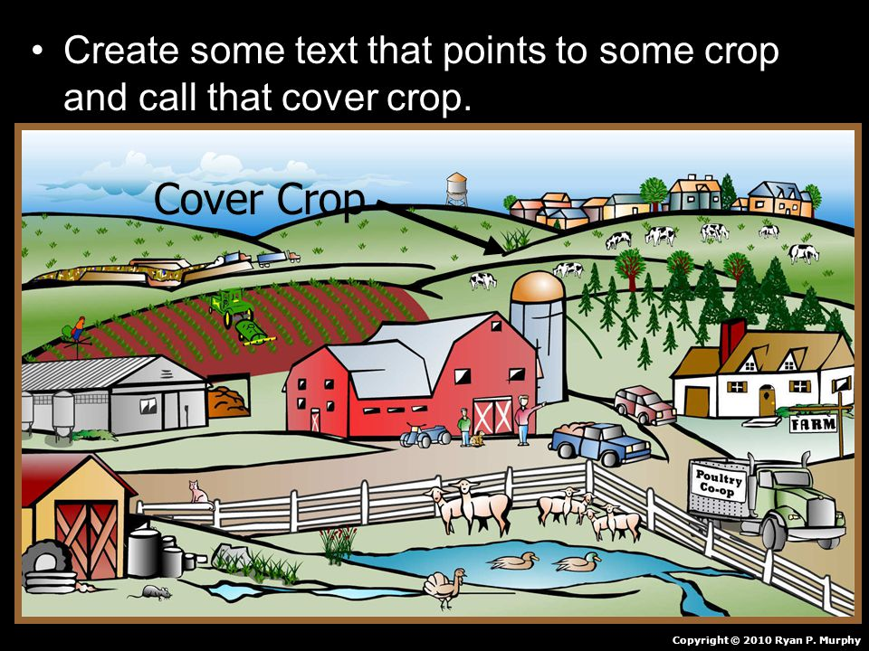 Create some text that points to some crop and call that cover crop.