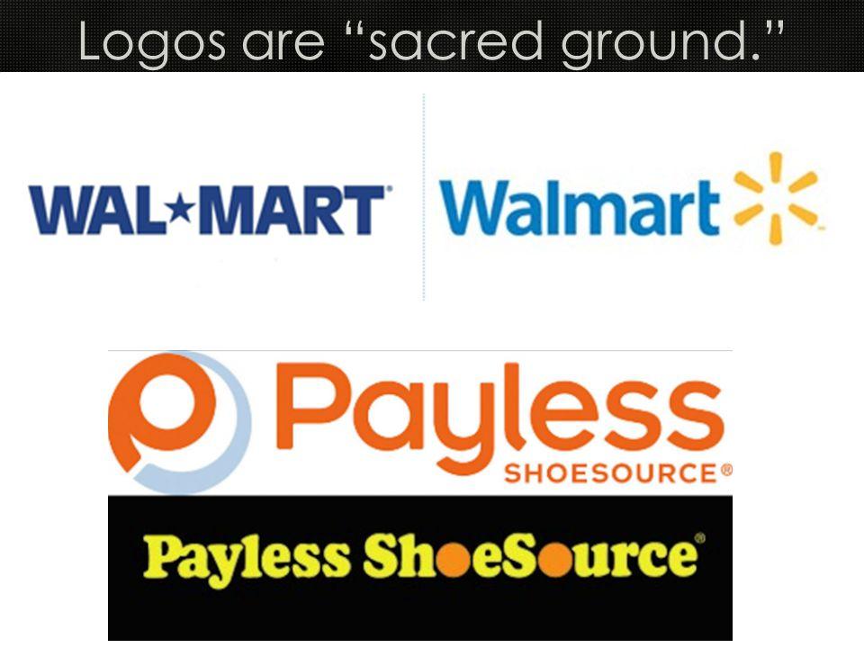 Logos are sacred ground.