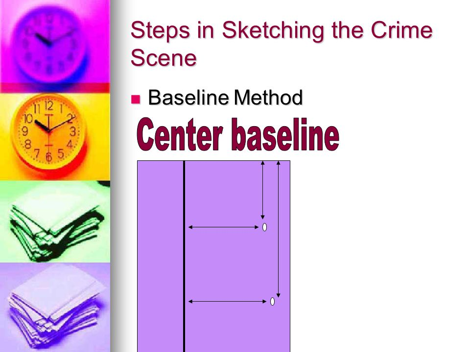Steps in Sketching the Crime Scene Baseline Method Baseline Method