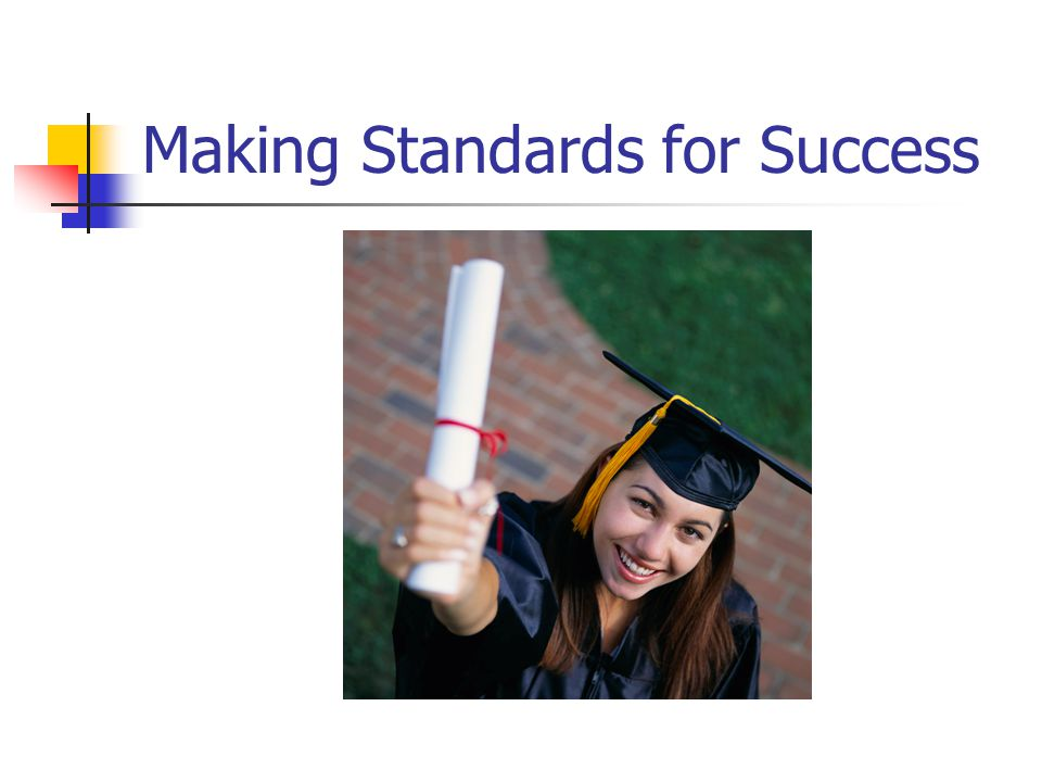 Making Standards for Success