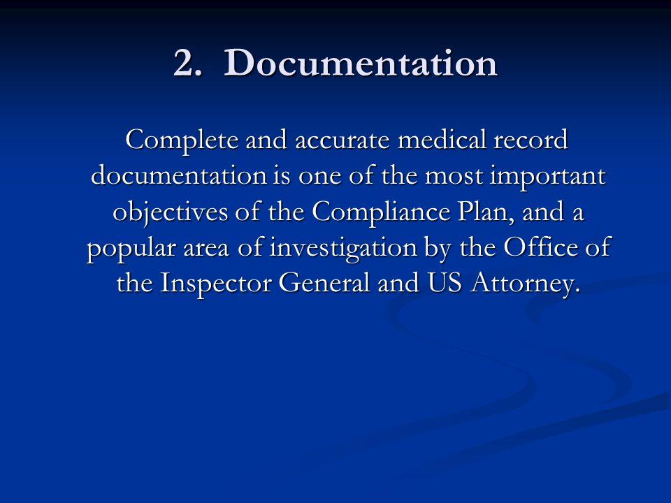 Documentation, cont'd.
