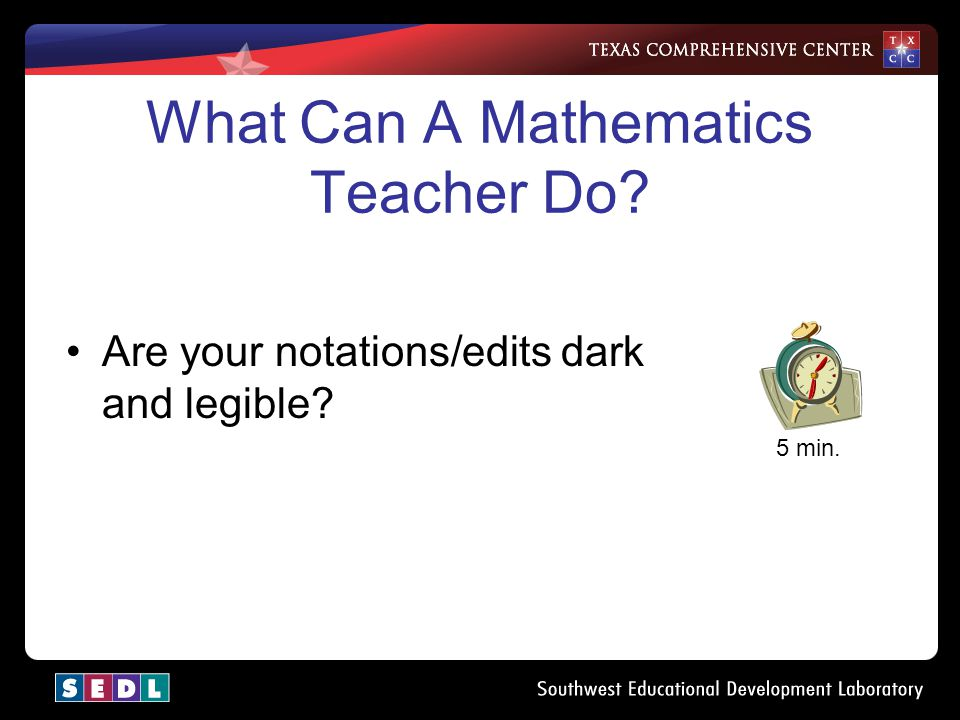 What Can A Mathematics Teacher Do? 10 min. Do you need any other resources?