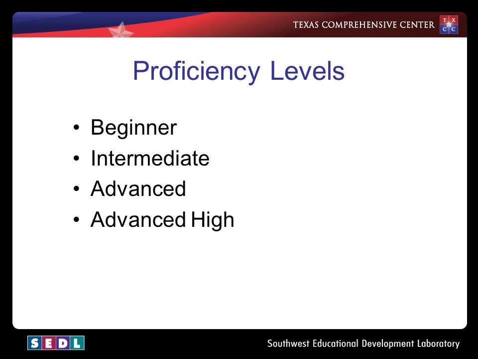Objectives –Content Objective—Identify appropriate teaching strategies for the proficiency levels described in TOPS for the high school mathematics cl