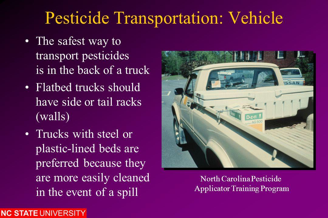 North Carolina Pesticide Storage Rules Commercial Storage of Restricted-Use Pesticides Includes any quantity of restricted-use pesticides stored by pesticide dealers, licensed pesticide applicators, etc.