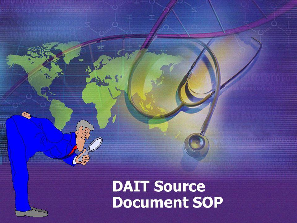 DAIT Source Document SOP