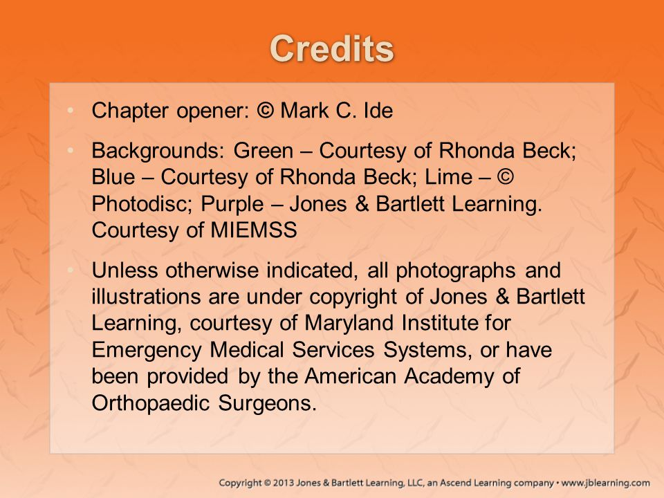 Credits Chapter opener: © Mark C.