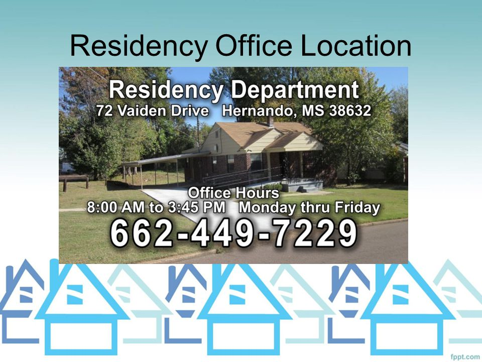 Residency Office Location