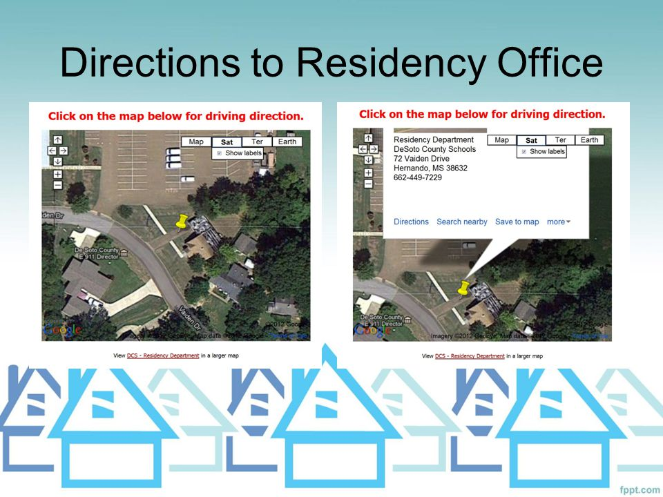 Directions to Residency Office