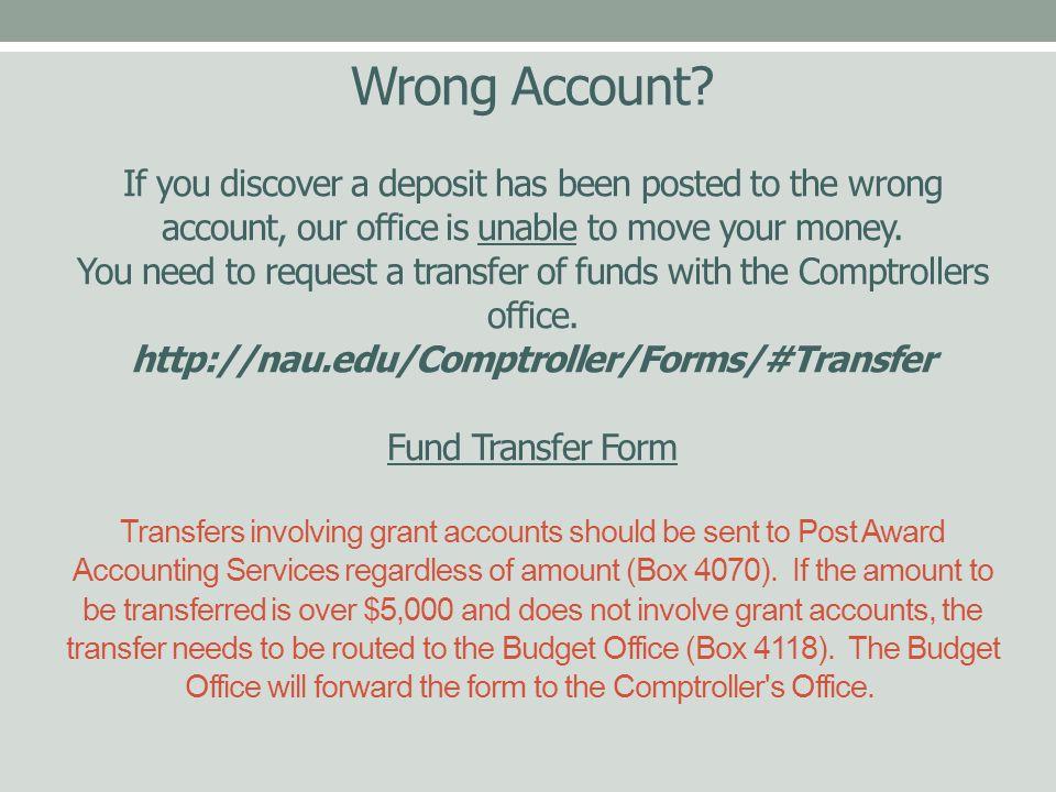 Wrong Account.