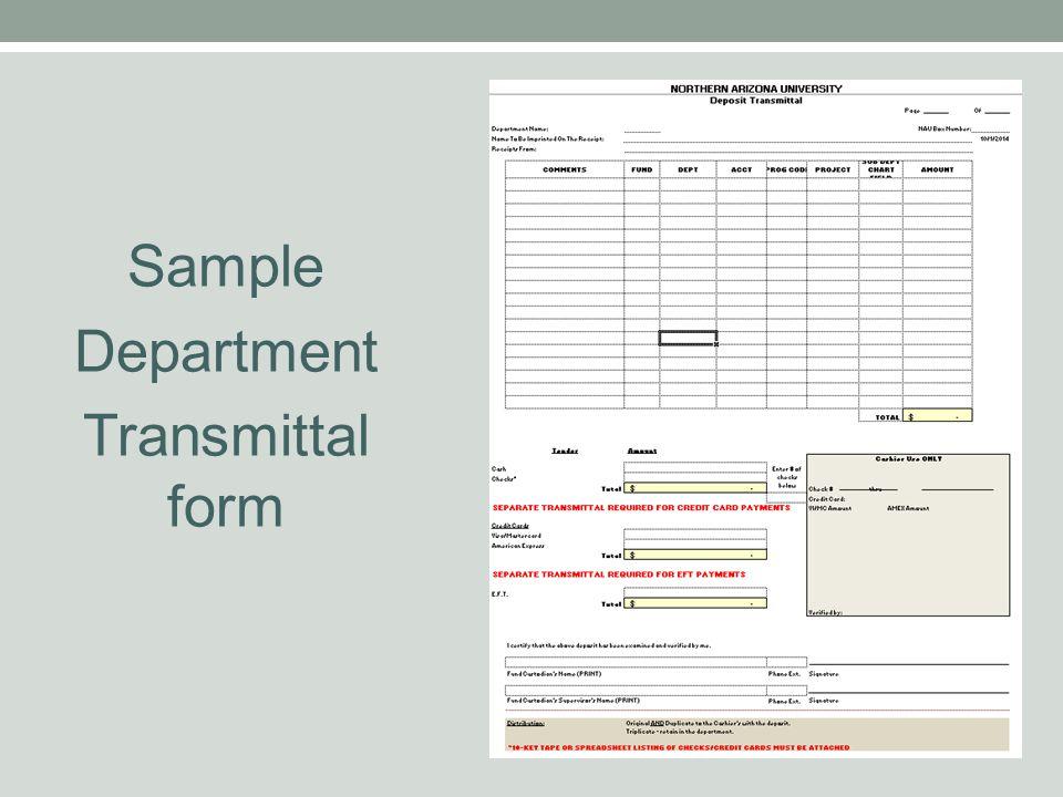 Sample Department Transmittal form