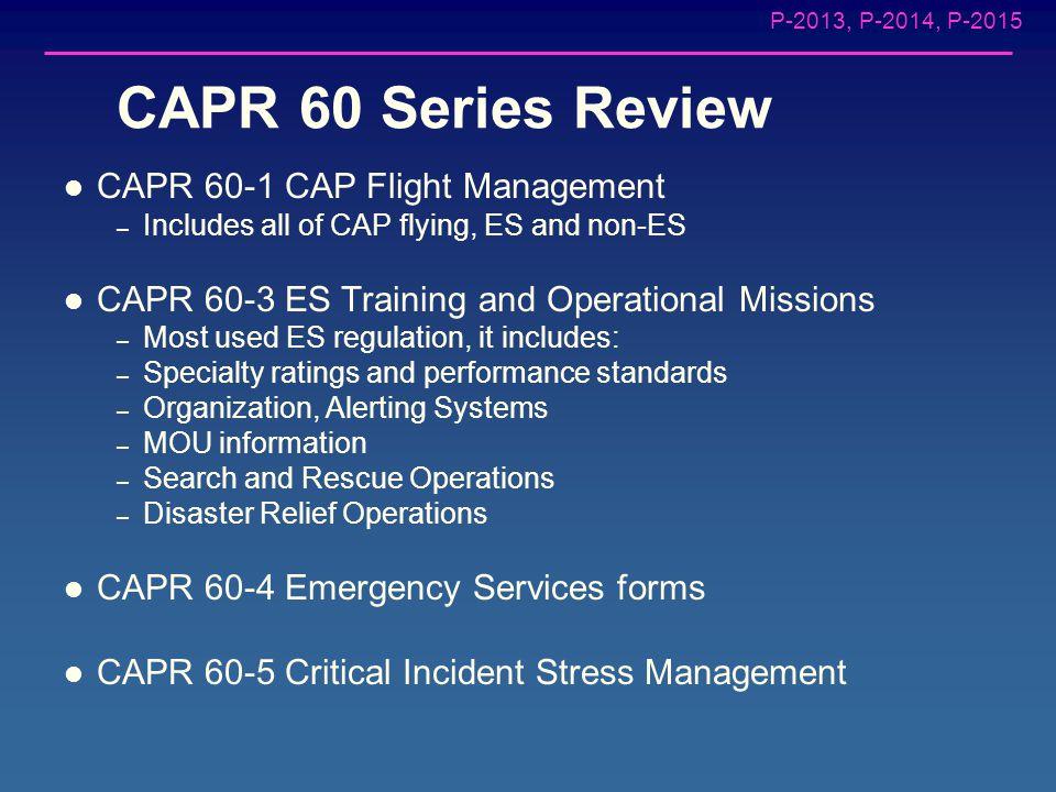 P-2013, P-2014, P-2015 Minnesota Wing Aircrew Training: Tasks P-2013, P-2014, P-2015 Scanner Responsibilities CAP Missions