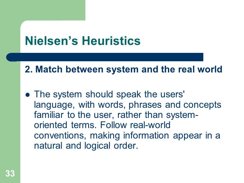 Nielsen's Heuristics 2.