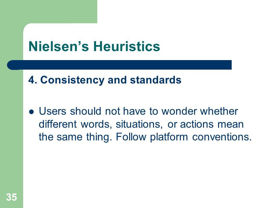 Nielsen's Heuristics 4.