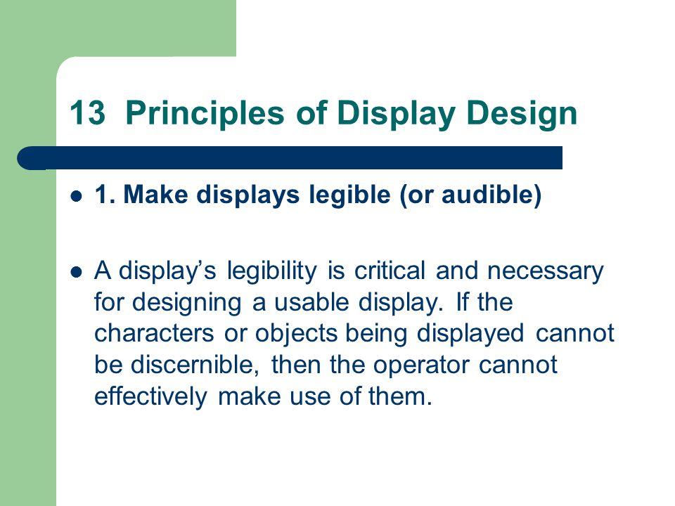 13 Principles of Display Design 1.