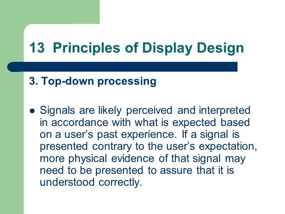 13 Principles of Display Design 3.
