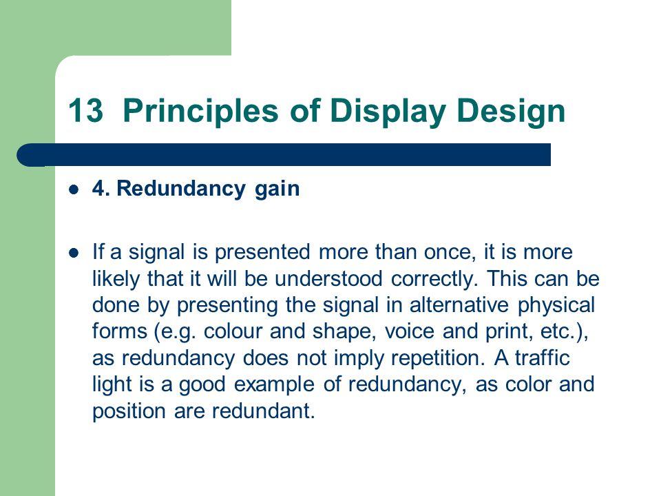 13 Principles of Display Design 4.