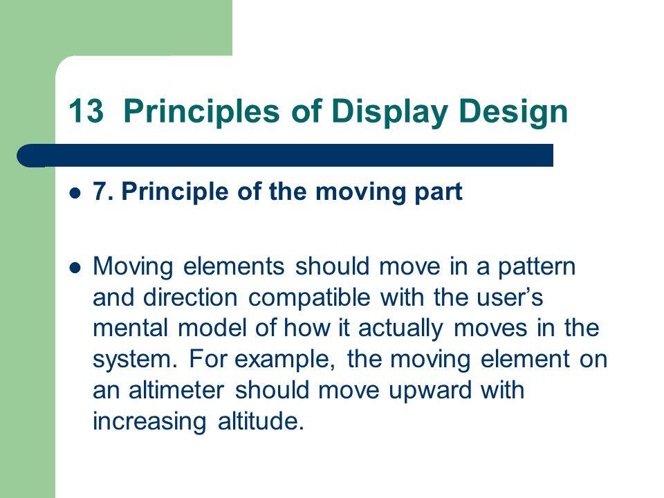 13 Principles of Display Design 7.
