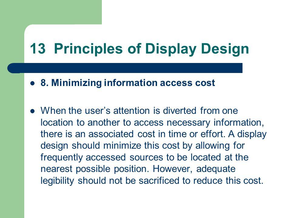 13 Principles of Display Design 8.