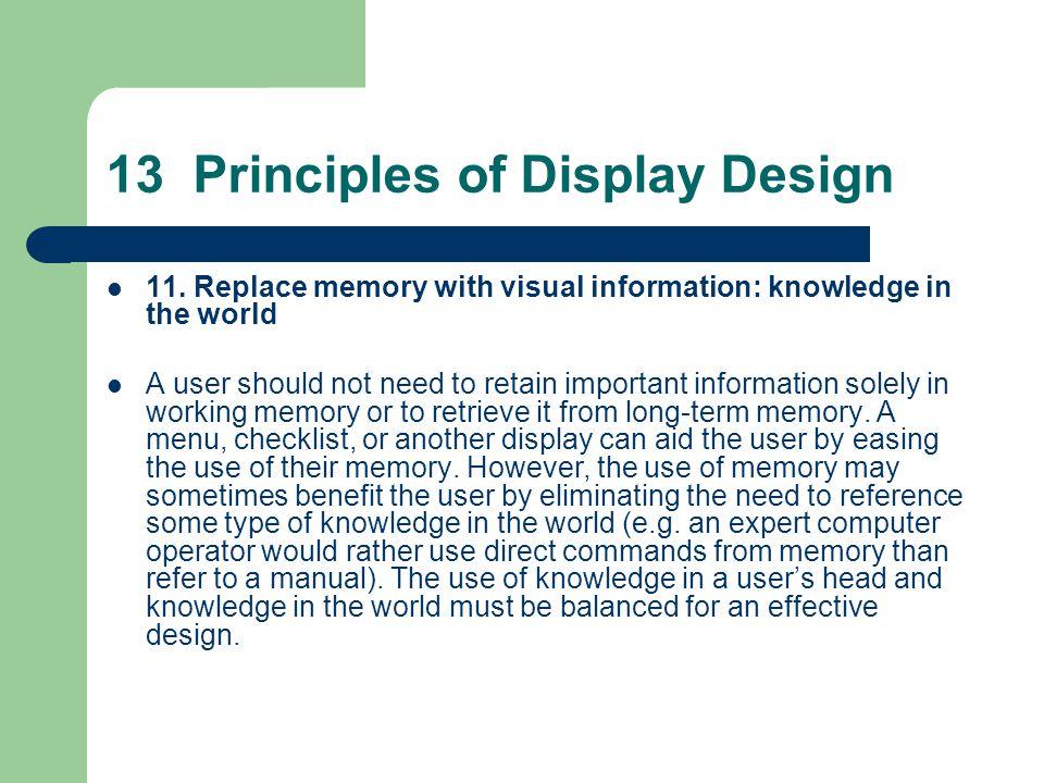 13 Principles of Display Design 11.