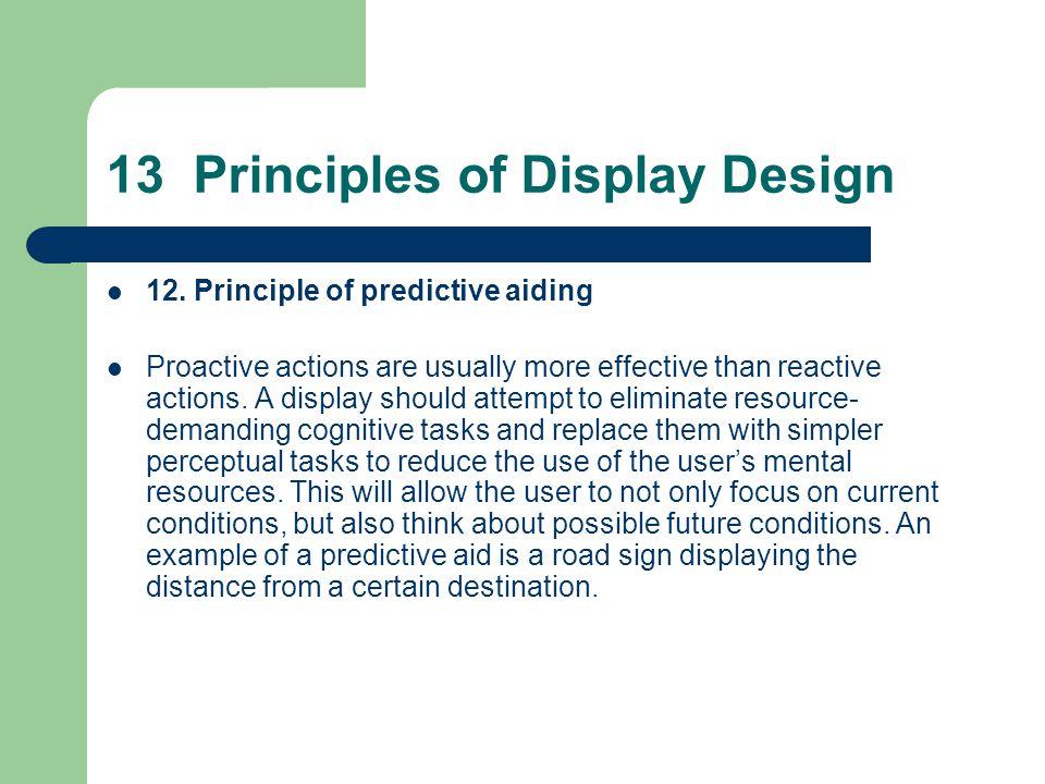 13 Principles of Display Design 12.